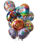 Balloons: Birthday Balloon Bouquet-12 Mylar