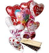 Balloons & Chocolate: Romantic Balloons & Chocolate-12 Mylar