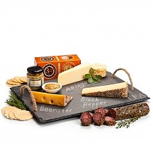 Cheese, Charcuterie Gifts: Personalized Slate with Artisan Cheeses