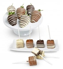-Dropship: Gifts: Belgian Chocolate Strawberries and Cheesecake Pops