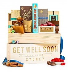 Personalized Keepsake Gifts: Gourmet Get Well Personalized Crate
